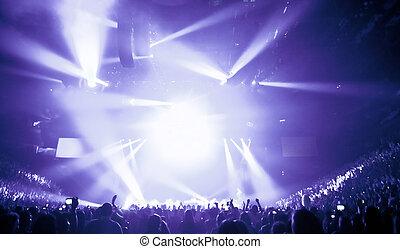 stor, levende musik, koncert