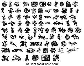 stor, mexikansk, motifs, pakke