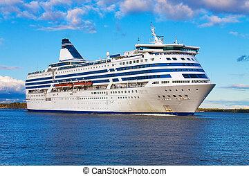 stor, passagerarfartyg, kryssning