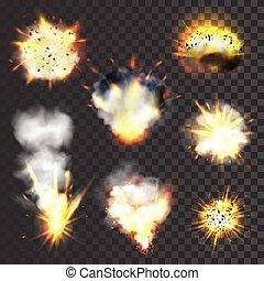 stor, sätta, explosions