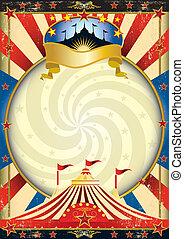 stor topp, cirkus, affisch