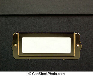 storage box - black storage box with white label area