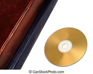 Storage data concept - Two books and a DVD-old and new way...