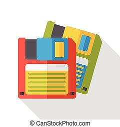 storage disk flat icon