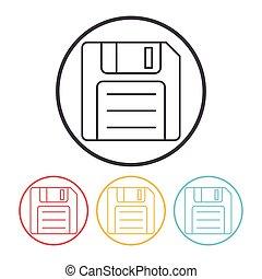 storage disk line icon