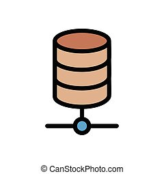 storage  flat color icon