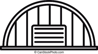 Storage hangar icon. Outline storage hangar vector icon for web design isolated on white background
