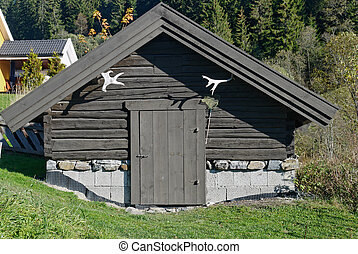 Storage House - A small traditional Norwegian storage house...