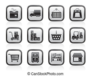 Storage icons transportation icons - Storage, transportation...