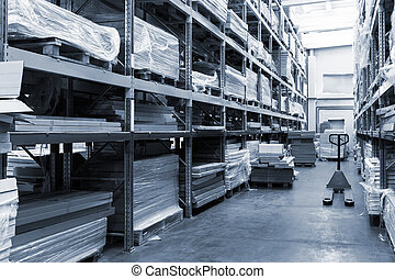 a modern warehouse