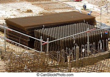 Storage of steel reinforcement bar