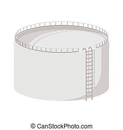 Storage oil tank cartoon icon