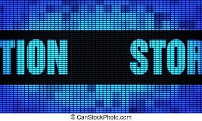 Storage Optimization Front Text Scrolling LED Wall Pannel...