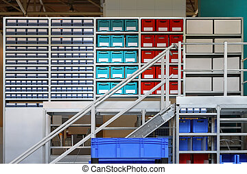 Storage room - Modern storage room with crates and boxes