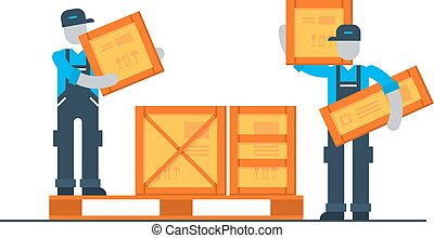 Storage services, moving boxes, shipping delivery