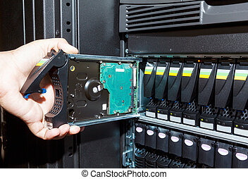 storage system in the data center - replacement of a...