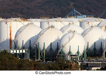 Storage tank - Gas tank in a industry plant