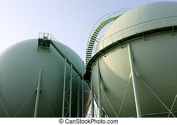 Storage tank in a chemical plant
