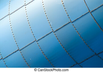 Storage tank patterns - Abstract detail showing patterns of ...