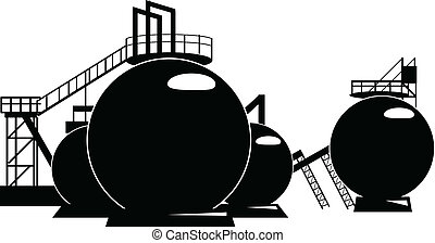 Storage tanks - Industrial processing of a storage tank....