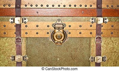 Storage trunk - Close up of a vintage storage trunk