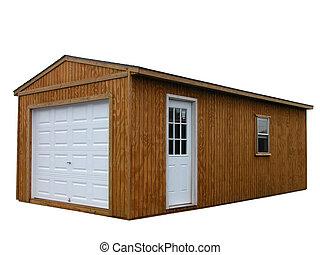 Storage Unit 7 - Large outdoor storage unit with white...