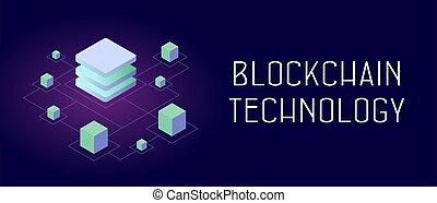 storage., uno, tecnología, seguro, elegante, -, blockchain, ...