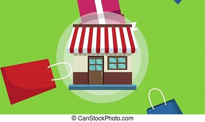 Store and shopping HD animation