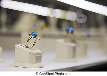 store., anillo, exhibición