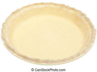 Store Bought Pie Crust Before Cooking Isolated on White with...