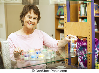 Store Clerk Working
