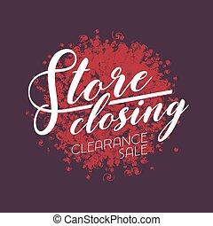 Store closing sale vector illustration, design