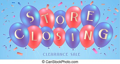 Store closing sale vector illustration, background. Template...