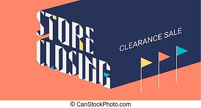 Store closing sale vector illustration, background with...