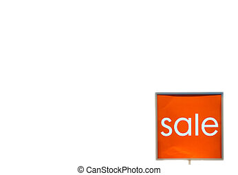 Store discount sign, Sale in shopping mall isolated on white background copy space, sale,store,business concept
