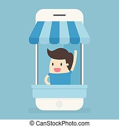 store., e-commerce., ligne