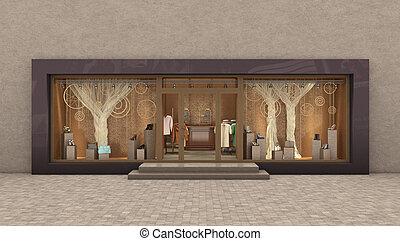 store exterior, 3d illustration