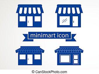 Store flat icon on white background