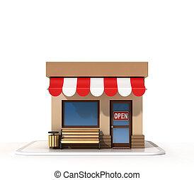 Store front 3d rendering