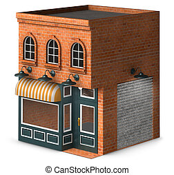Store Front - Iconic rendering of a classic retail store ...