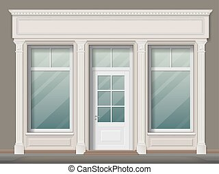 Store front with columns