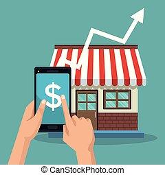 Store growing sales