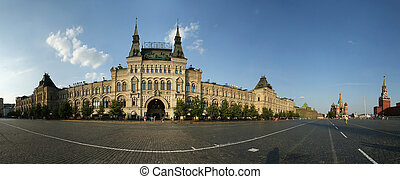 store GUM, panorama, Red Square, Moscow, Russian Federation