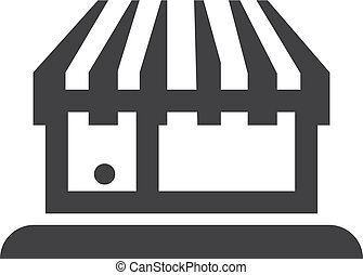 Store icon in black on a white background. Vector...