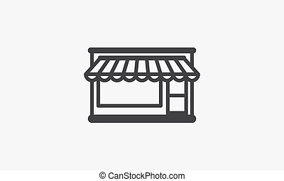store icon. vector illustration. isolated on white background.