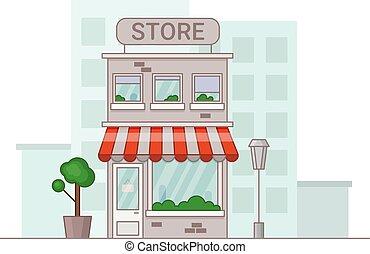 Store illustration in cartoon style