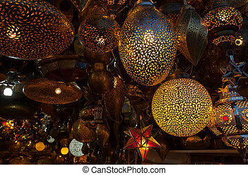 store in street market - Street shop with traditional...