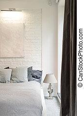 Store, knappe, soveværelse, gulvtæppe. Blå, gulvtæppe,... stock ...