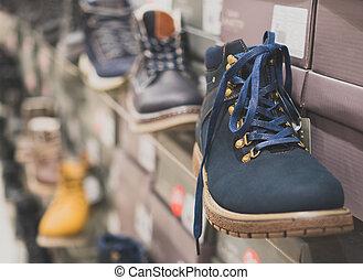 store., men's , χειμώναs , συλλογή , παπούτσια