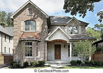 store, mursten, hjem